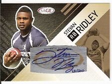 '11 SAGE STEVAN RIDLEY (PATRIOTS) ROOKIE CARD SP AUTOGRAPH 131/200