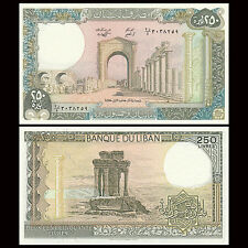 Lebanon 250 Livres, 1988, P-67e, UNC