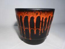 Fat Lava Übertopf Keramik Vintage German Pottery Blumentopf 70er 70s Planter