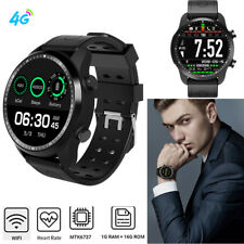 4G Wifi Smart Watch 1+16GB Android 6.0 Heart Rate Unlocked Watch Mobile Phone