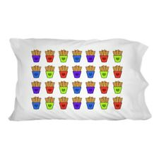 Colorful French Fries Pattern Novelty Bedding Pillowcase