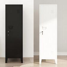 Standing Filing Storage Cabinet OfficeStorage Metal Cabinet 1 Door 3 Tier NEW