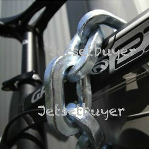 """Pewag Chain 8 ft Square Link 1/2"""" 12 mm Security Chain and Sleeve Motorbike"""