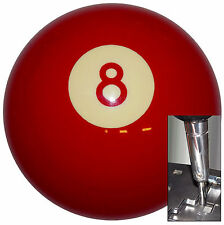 Red 8 Ball Billiard shift knob for Dodge Chrys Jeep auto stick w/ Adapter