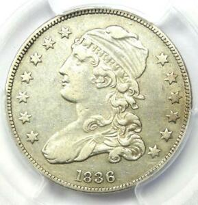 1836 Capped Bust Quarter 25C - PCGS XF Details - Rare Early Date Certified Coin!