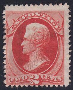 US STAMP #178 – 1875 2c Andrew Jackson, vermilion unused rg fault
