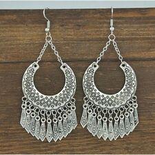 Bohemian Women Fine Jewelry Vintage Ethnic Gypsy Carven Drop Boho Earrings