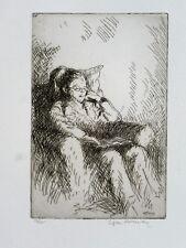 Edgar Holloway (1914-2008) Signed original etching - Full provenance...