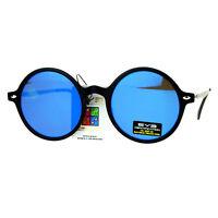 New Flat Lens Sunglasses Retro Fashion Round Circle Frame UV 400