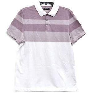 MSRP $55 Alfani Designer Men's Twill Striped Polo Shirt Ripe Size Medium