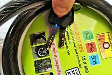 Fahrradschloss Panzerschloss mit Led-Beleuchtung  Motorradschloss
