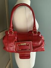 Next Red Patent Double Strap Handbag