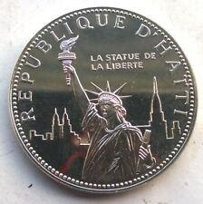 Haiti 1977 Statue of Liberty 100 Gourde Silver Coin,UNC