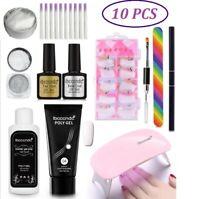 Fibernail Fiberglass Nail Art Silk Extension Acrylic Tip Manicure Salon Tool Kit