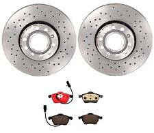 Brembo Front Brake Kit Ceramic Pads & Drilled Disc Rotors for Audi A4 A6 Quattro
