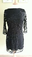 WALLIS Evening Party DRESS UK14 IMMACULATE Wedding Sequins Polka Dot Occasion