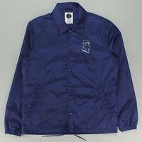 Polar Doodle Kevin Zip Coach Jacket Coat in Navy Size S,M,L