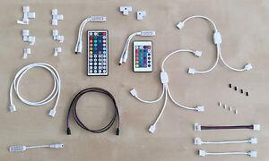 Zubehör für LED-Streifen Verbinder, Verteiler, Fernbedienung, Verlängerungskabel