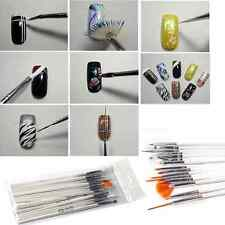 15x UV Gel Nail Art Salon Painting Drawing Pens Brushes Manicure Decoration Tool