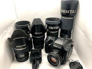 【 Special set ! 6Lens Nr MINT】 PENTAX 645D 40.0MP Digital SLR Camera From JAPAN
