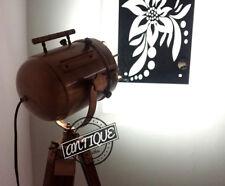 LED Torch Bedrooms Lamps Antique Studio Floor Lamp Tripod Wooden Lighting Decors