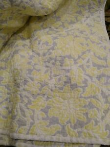 """Laura Ashley King Cotton Quilt Coverlet 100 X 90"""""""