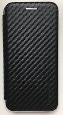COMMANDER Book SmartCase NOBLESSE Carbon Style für Apple iPhone 7 Black Schwarz