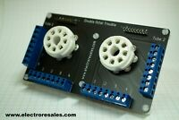 Double 8 Pin tube socket PCB Ready Built - Great for Experiments & Prototyping