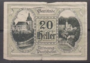 Austria Notgeld Gemeinde Buchheim 1921 20 Heller