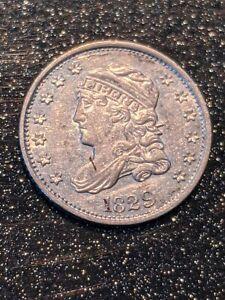 1829 Philadelphia Mint Silver Capped Bust Half Dime LM-3 R-2 Slider Uncirculated
