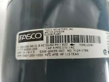 FASCO E0499 ELECTRIC MOTOR 230V 1/3 HP PART# 7124-1789 TYPE U24B1