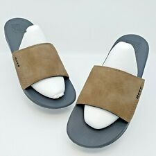 Reef Mens One Comfortable Slide Tan/Brown Slides Size 12