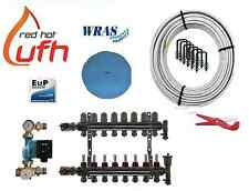 water underfloor heating 8 port 800m kit up to 160m2 with Digital A rated pump