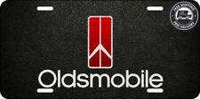 1980's Oldsmobile Red Gradient Aluminum Vanity License Plate 442 Olds Cutlass