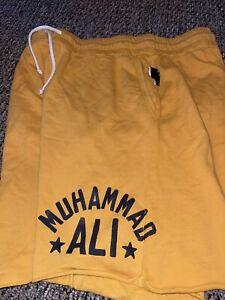 ROOTS OF FIGHT BOXING MUHAMMAD ALI YELLOW SHORTS XXL