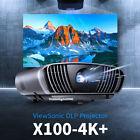 New ViewSonic 4K Projector X100-4K UHD 2,900 LED Lumens Wi-Fi OSD 23 Languages