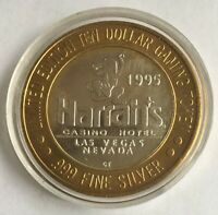 1995 Harrah's Casino Hotel, Las Vegas, Limited Ed. $10 Silver Gaming Token