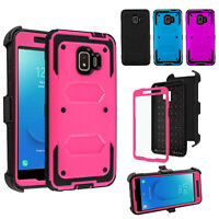 For Samsung Galaxy J2 Core 2019 Armor Case Kickstand Holster + Screen Protector