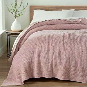 UGG Delaney Chenille Reversible Full/Queen Blanket in Pink Crystal