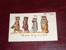 ORIGINAL LOUIS WAIN SIGNED TUCK CAT POSTCARD - THE NOTE DULY REACHED, SERIES 539