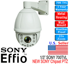 22x 1/3 Sony Effio CCD PTZ 3.9 - 85.5mm Zoom Lens Constant Speed Outdoor Camera