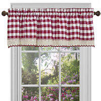 Country Plaid Window Valance Treatment - Assorted Colors