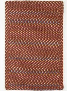 Woodstock Spacedyed Multi Soft Durable Country Cabin Braided Rug Maroon WO41