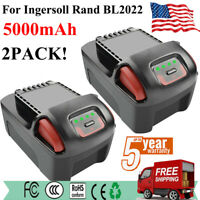 2Pack 20V 5.0Ah Extra High Capacity Battery For Ingersoll Rand BL2022 IQV20