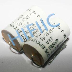 2PCS EPCOS B32669 MFP 5UF 250V 450VDC axial capacitor