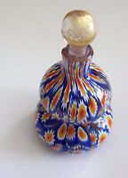 Lovely Vintage Blue Millefiori Glass Perfume Bottle