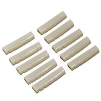 10 Pcs Guitar Nut Slotted for Acoustic Guitar Plastic