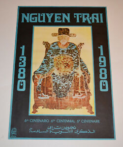 Political OSPAAAL Solidarity Original Cuban POSTER from 1980.Vietnam.Nguyen Trai