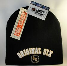NHL Original Six Knit Beanie Hat Vintage American Needle Black