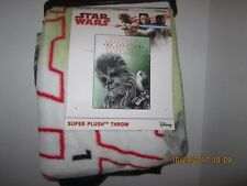 "Disney Star Wars The LAST JEDI Chewbacca Soft Throw Blanket 46""X 60"" NEW 2017"